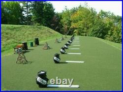 Premium Golf Driving Range Super Tee Line Golf Mat 5' x 10' Holds A Wooden Tee