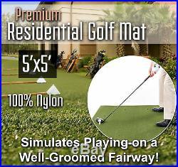 Premium Residential Home Practice Range Golf Mat 5 feet x 5 feet