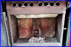 Quadrafire Castile Freestanding Cast Iron Pellet Stove Enamel Green, Refurbished