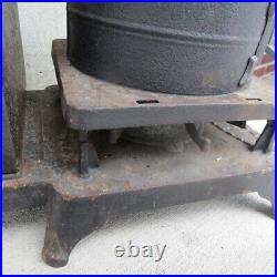 RARE 1883 cast iron cook / camp stove Fleming New Success primitive and complete