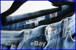 RE/DONE ORIGINALS High Rise Stove Pipe Blue Jeans Size 26