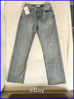 RE/DONE ORIGINALS WOMENS HIGH RISE STOVE PIPE JEANS 25 Retail $250 NWT