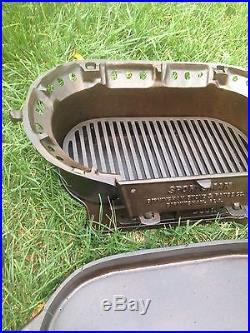 Rare 3 legged birmingham stove range sportsman cast iron for Cast iron fish fryer