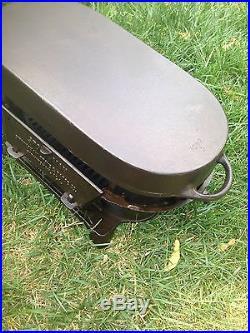 Rare 3 Legged Birmingham Stove Range Sportsman Cast Iron