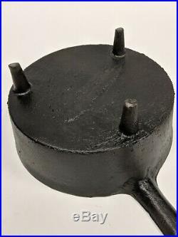 Rare Early Antique Martin Stove & Range No. 10 Cast Iron Spider Skillet
