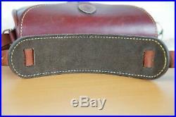 Rare Holland Sport saddle latigo leather Trap and Skeet Shotgun shell range bag