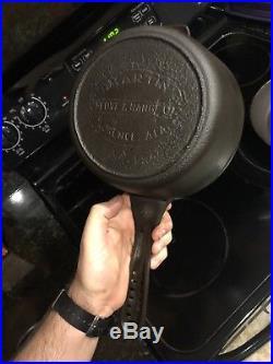 Rare Martin Stove And Range #5 Saucepot Hamburger Logo Lodge Cleaned & Seasoned