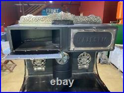 Re-plated and completely refurbished vintage Majestic Wood Stove