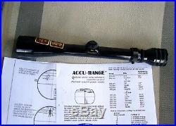 Redfield 3x9 Rifle Scope Accu-Range USMC M40 Sniper Minty