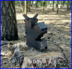 Rocket Stove Portable Camping Fire Pit Stove Grill Collapsible Flat Pack DIY