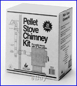 Simpson Dura-Vent Black/Silver 3-in Pellet Stove Pipe Chimney Exhaust Vent Kit