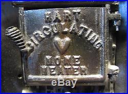 Sm Old Hart Home Heater Stove Authentic Salesman Sample Enamel Case 17 1/2 Hi