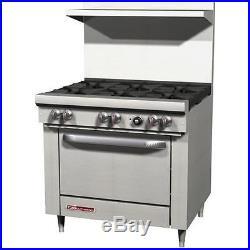 Southbend S36D 36 Commercial Restaurant Range Oven Stove