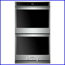 Stainless Steel Whirlpool Smart Double Electric Wall Oven WOD51EC0HS Range
