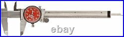 Starrett R120A-6 Dial Caliper, Stainless, 0-6 Range, +/-0.001 Accuracy, Red