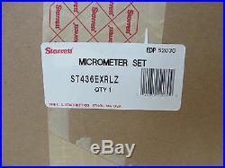 Starrett ST436EXRLZ 436 Series Outside Micrometer Set, 0-12 Range New