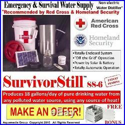 Survival Still vs the NEW Auto Scald FREE SurvivorStill 18g/day with SS Stove