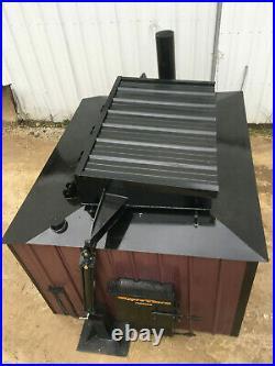TOP LOADER Log Burner Outdoor Wood Burner Boiler Furnace Stove Outside 13,500 sf