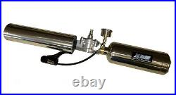 Tennis ball launcher cannon 300' range Stainless 80P26 withbottomline + 12oz CO2