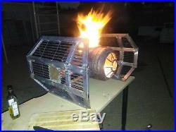 Tie Fighter Fire Pit Firepit Stove Sculpture Art Star Wars Darth Vader