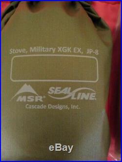 USMC MSR Small Unit Expeditionary Stove Marine XGK with Repair Kit Seal Line Bag