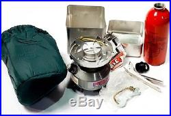 USMC Peak Multi-Fuel Stove WithCase & Cooking Pot & Fuel Bottle Survival Stove