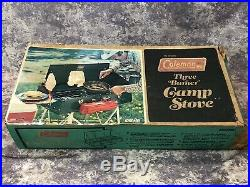Unused 1978 Coleman 426D 3 Burner Camp Stove Withbox NIB Never Lit