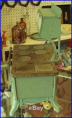 Vintage Antique Vindex Cast Iron Wood Stove Salesman Sample 1929 Accessories Toy