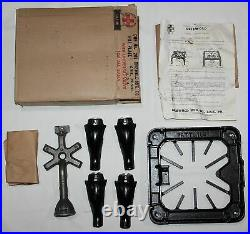 VINTAGE, NEW IN BOX, GRISWOLD CAST IRON ONE BURNER GAS STOVE, No. 201