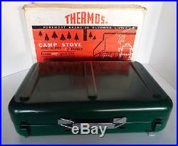 VINTAGE THERMOS Camp Stove Model 8429 2 Burner Burns Any Gasoline New Old Stock