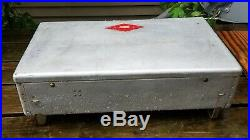 VTG RARE 1950s -60s COLEMAN 2 -BURNER ALUMINUM CAMP STOVE Diamond Logo