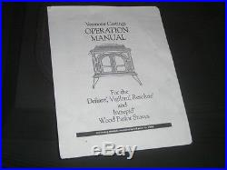Vermont Castings Vigilant Wood Coal Stove fireplace screen & Manual made in USA