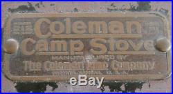 Vintage 1920's Coleman 2 Burner Model # 2, Camp Stove
