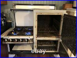 Vintage 1930 Glenwood Gas Stove, restored and modernized, gray and white