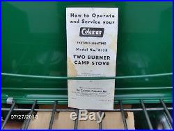 Vintage 1953 Coleman Cooking Stove 413D Gold Tank (Never Used)