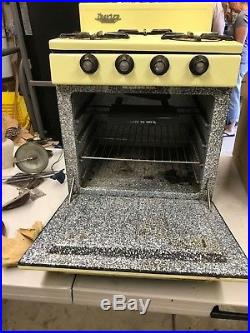 Vintage 1959 Terry Travel Trailer Propane Stove Oven and Icebox