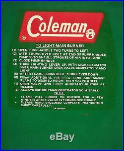 Vintage 1960s Coleman 3 Burner 426D Camp Stove Wichita Kansas USA Clean Nice
