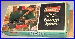 Vintage 1977 Coleman 3 Burner Camping Stove Model 426D