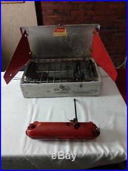 Vintage Coleman 442 2-burner Aluminum Suitcase Camp Stove Diamond Logo