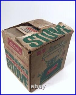 Vintage Coleman 502 Sportster Single Burner Stove 4/74 Original Box Works! 70s