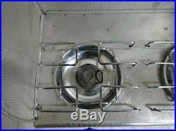 Vintage Coleman Aluminum Two Burner Picnic Stove Model 5409 with Box & Backsplash