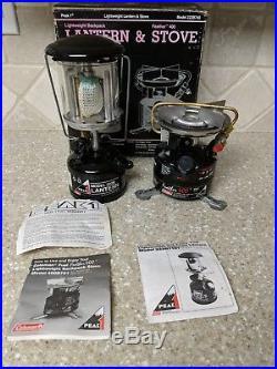 Vintage Coleman Peak 1 Lantern Model 222B & Feather 400 Camp Stove Combo NOS