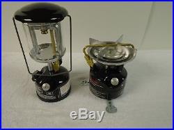 Vintage Coleman Peak 1 Lantern Model 222B and Feather Model 400B Stove Combo
