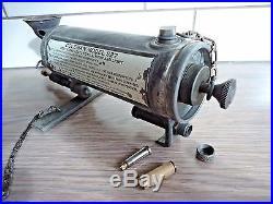 Vintage Coleman nr. 527 military gasoline field stove burner 1945 sterilizer set