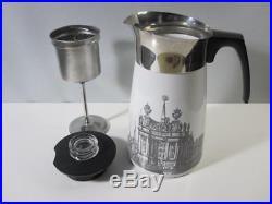Vintage Corning Ware Renaissance 9 Cup Stove Top Coffee Pot Percolator Rare