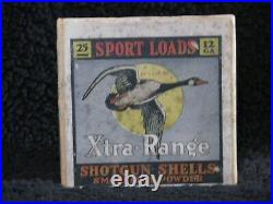 Vintage Empty 12 gauge sport loads extra range 2 Piece Shotgun Shell Box