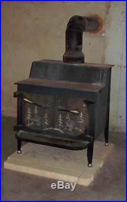 Vintage Fisher Grampa Bear Wood Stove Fire Screen Insert Grandpa