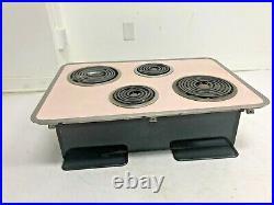 Vintage GE PINK STOVE range oven mid century modern kitchen general electric 50s