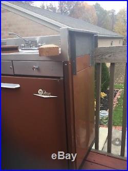 Vintage King Kitchen Sink Refrigerator Stove Retro Kitchen Unit Tiny House RV