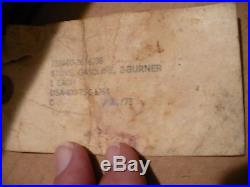 Vintage MILITARY COLEMAN 2 BURNER STOVE in Original Box 2/1967 Vietnam Era